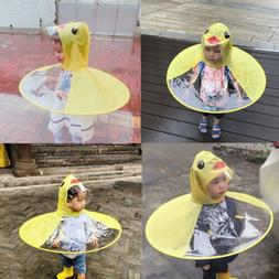 fe8f894275ced Rain Coat UFO Duck Kids Baby Children Umbrella Hat Magical H