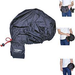 Fomito Camera Rain Cover Coat Storage Bag Protector Rainproo