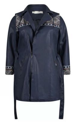 rain jacket coat faux leather plus size20