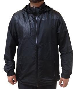 New Reebok Men's Rain Jacket Black Small