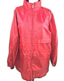 Totes Rain Jacket Size L/XL Packable Roll Up Hood Water Resi