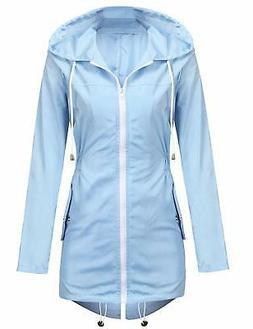 UNibelle Rain Jacket Women Lightweight Hooded Waterproof Rai