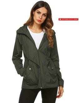 Zhenwei Rain Jacket Women Waterproof With Lined Raincoat Out