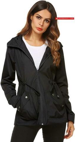 Zhenwei Rain Jacket Women Waterproof With Lined Raincoat Out