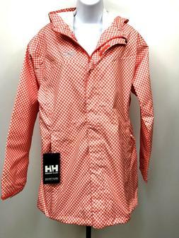 Helly Hansen Rain Jacket Womens Bellevue Coat XL Gingham Che