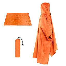 Sotical Veamor Rain Poncho, 3 in 1 Multifunctional Portable