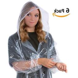 Suniry RAIN Poncho | Clear Disposable Adult Raincoat for Men