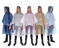 Rain Poncho: Lightweight, Waterproof Rain Gear with Drawstri