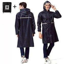rain poncho long reflective waterproof raincoat