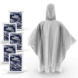 Hagon PRO Disposable Rain Ponchos for Adults  Premium Qualit