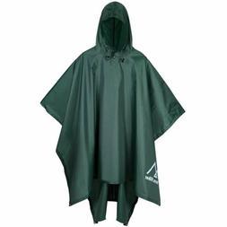 Terra Hiker Rain Poncho, Waterproof Raincoat with Hoods for