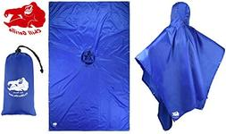 Chill Gorilla Rain Poncho. Waterproof Tear Resistant Quality