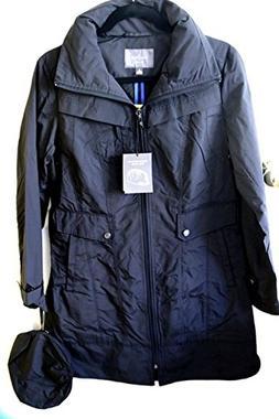 Cole Haan Women's Raincoat Small Black