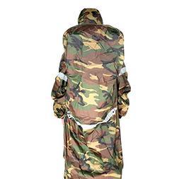 Gracefulvara Outdoor Raincoat Backpack Cover One-piece Rainc