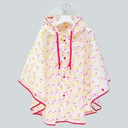 SWIHEL Children Raincoat, Kids Rain Poncho, Reusable and Wat