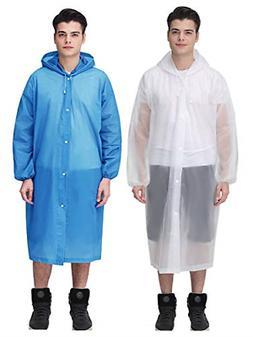 Raincoat EVA Reusable Rain Ponchos Emergency Camping Surviva