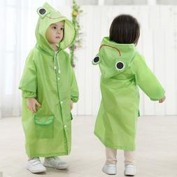 Raincoat Kids Cartoon Animal Style Waterproof Kids Raincoat