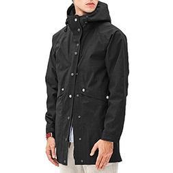 Romanstii Raincoat Men Big and Tall Windbreaker Fashion Rain