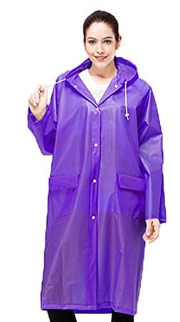 Bienvenu Raincoat Rain Cape Men Women Rain Poncho with Hat H