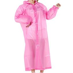 FindUWill Raincoat Rain Poncho with hat Hood and Sleeves,Reu