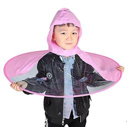 Sujing Children Raincoat UFO Umbrella Novelty Headwear Cap H