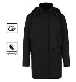 BOSBARY Raincoats Men's Waterproof Lightweight Long Rain Jac