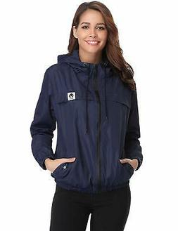 Abollria Raincoats Waterproof Lightweight Rain Jacket Active