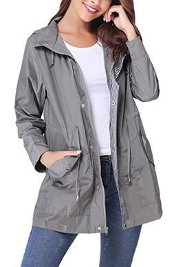 iClosam Women Raincoats Waterproof Lightweight Rain Jacket O