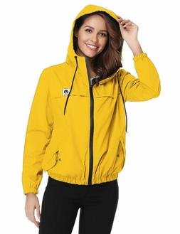 Abollria Raincoats Waterproof Lightweight Rain Jaet Active O
