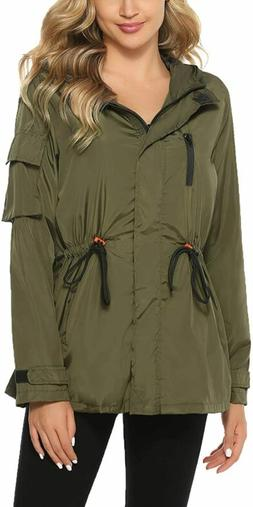Abollria Raincoats Waterproof Rain Jacket Active Outdoor Det