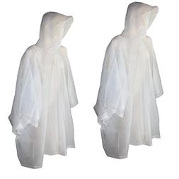 Totes Raines Kids Clear Travel EVA Rain Protection Poncho Ra