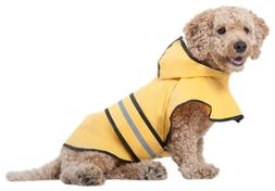 Fashion Pet Rainy Days Slicker Yellow dog Raincoat for large