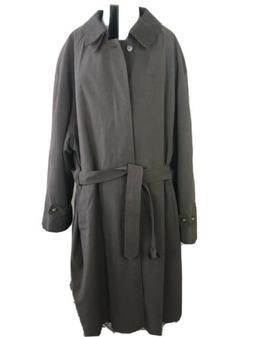 Ralph Lauren Trench Rain Over Coat Mens 50R Brown Wool Lined