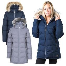 Trespass Reeva Womens Down Parka Jacket Warm Long Coat with