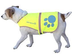 Reflective Dog Vest Medium with Adjustable Strap and Floresc