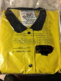 "Regal Classic Safety 49"" Yellow Snap Rain Coat Detachable Ho"