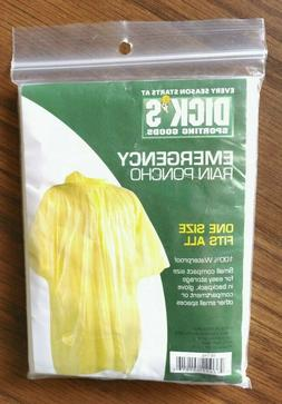 Reusable Emergency Rain Poncho , One Size Fits Most - Dick's