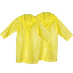 OCR Reusable Rain Poncho with Hood, Portable Raincoat Commut