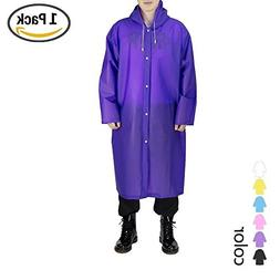 UNPOPULAR Adult Reusable Rain Poncho, EVA Portable Raincoat