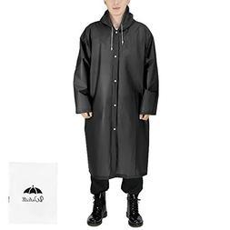 Walsilk 2 Pack Reusable Rain Ponchos for Adult,Emergency Rai