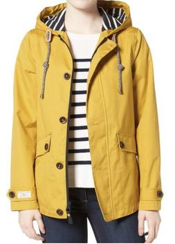 Joules Right as Rain Waterproof Hooded Jacket Antique Gold C