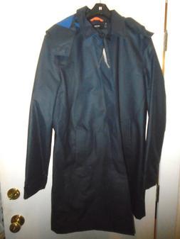 Jack Spade Rubberized Hooded Trench Coat Rain Coat NWT Large