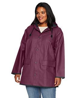 Levi's Size Women's Plus Rubberized Rain Jacket, Wine, 3X