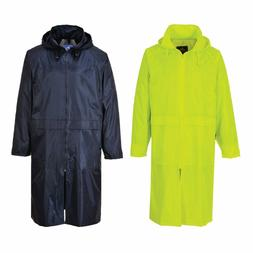 "Portwest S438 Classic Adult 47"" Long Rain Coat Pick Color &"