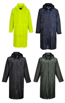 Portwest S438 Classic Adult Long Waterproof Rain Coat Jacket