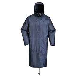 Portwest S438NARM Classic Rain Coat, Fabric, Medium, Navy