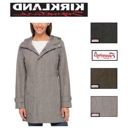 NEW! SALE! Women's Kirkland Signature Trench Rain Coat Hood