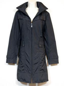 Cole Haan Signature Black Size XL Rain Coat Hood in Collar L