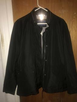 signature mens packable rain jacket coat black