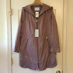 Cole Haan Signature Quilted Packable Rain Coat Women's Size